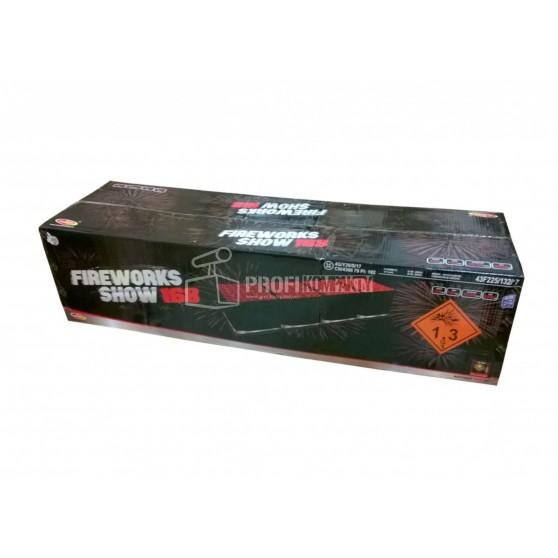 Sestavený ohňostroj FIREWORKS SHOW 168 ran 30/50mm