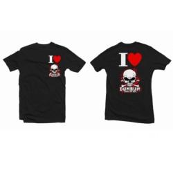 Tričko I LOVE DUMBUM, velikost M, černé