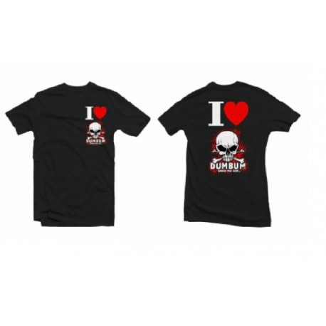 Tričko I LOVE DUMBUM, velikost XL, černé