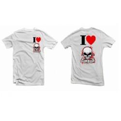 Tričko I LOVE DUMBUM, velikost XL, bílé